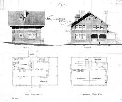 swiss chalet house plans swiss chalet no 12 side front second floor plan