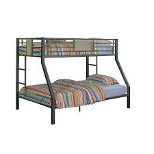 Bunk Bed Metal Frame Shop Powell Charcoal Bunk Bed At Lowes