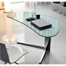 Modern Glass Office Desk by Corner Black Wooden Desk With Frosted Glass Cabinet Furniture