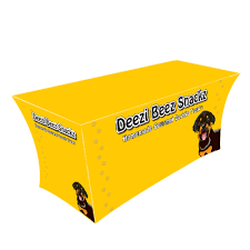 Logo Table Cloth by Custom Printed Spandex Table Covers Trade Show Tablecloth 6ft