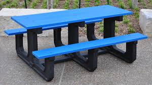 recycled plastic picnic tables park place heavy duty recycled plastic picnic table belson com