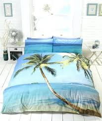 beach themed duvet covers uk hut king size cover scene tropical