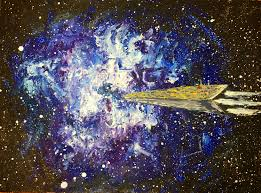 Space Decor by Oil Painting Oil Wall Art Space Gifts Space Decor Rocket Art