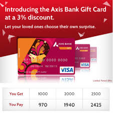 bank gift cards axis bank gift cards 3 cashback on rs 1000 paytm