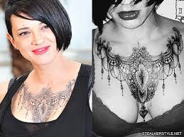 asia argento u0027s 21 tattoos u0026 meanings steal her style