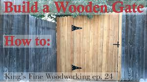 Best Wood To Build A Bookcase 24 How To Build A Wooden Gate In A 6 Foot Cedar Fence Youtube