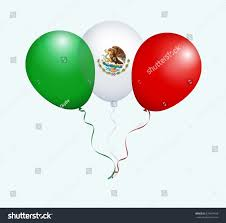 Flag That Is Green White And Red Balloons Raster Green White Red Mexico Stockillustration 674831428