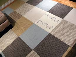 Tile Area Rug Interior Comfortable Carpet Tile Ideas With Grey Square Pattern