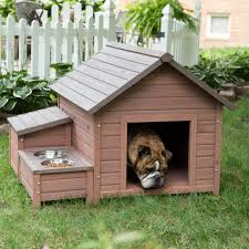 Boomer & George A Frame Dog House with Food Bowl Tray and Storage