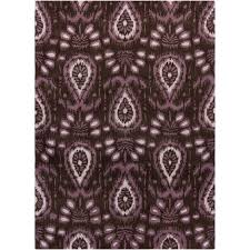 linon home decor links collection wave purple 5 ft x 7 ft indoor