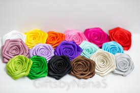 satin roses satin rosettes 30pc satin roses satin flowers satin rolled roses