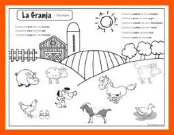 farm animal worksheets in spanish label the farm animals 1st 2nd