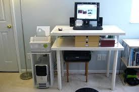 Stand Up Computer Desk Ikea Showy Stand Up Desk Ikea Ideas Sitting To Standing Conversion