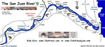 san juan map san juan river fly fishing river map for mexico by mike mora
