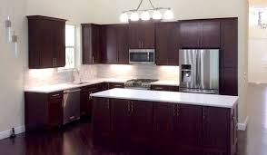 west palm beach florida kitchen with cherry cabinets