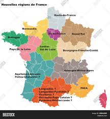New France Map by New French Regions Nouvelles Regions De France Separated
