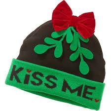 mistletoe hat me 3d mistletoe pom beanie walmart
