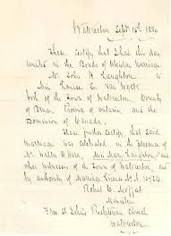 Ndu Attestation Letter hugh laughton 1859