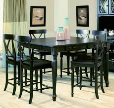 dining room decorative black counter height dining room sets