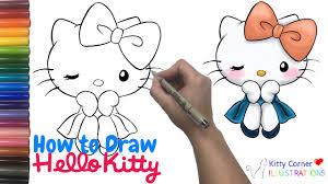 draw kitty art tutorial kids