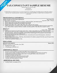 Consultant Resume Samples by Tax Consultant Resume Sample Resumecompanion Com Resume