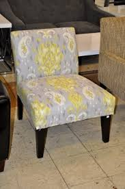 brilliant yellow and gray chair yellow floral tufted yellow and