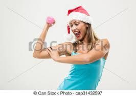 stock photographs of christmas fitness woman beautiful fitness