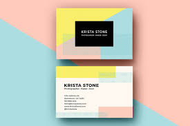 geo shapes business cards template business card templates on