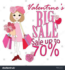 s day clearance valentines day clearance sale design advertisement stock vector