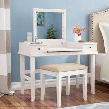 haven home vanity desk with mirror u0026 reviews birch lane