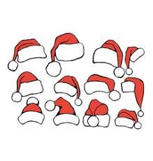 santa hats royalty free vector image vectorstock