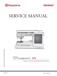 designer se service manual sewing machine electrostatic discharge