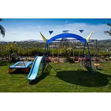Small Backyard Swing Sets by Best 25 Metal Swing Sets Ideas On Pinterest Kids Garden Swing