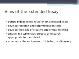 ITGS Extended Essay   International Baccalaureate Misc   Marked by     Extended Essay in English Literature   Faculty