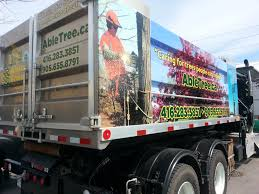 lexus in durham ontario completed able tree service complete trailer wrap with vehicle
