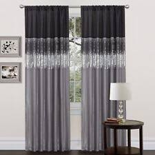 2 Tone Curtains Abstract Modern Curtains Drapes Valances Ebay