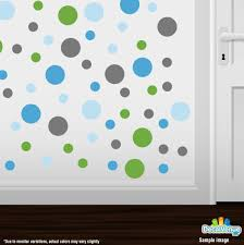 Wall Decals Patterns Color The by Grey Baby Blue Lime Green Ice Blue Polka Dot Circles Wall