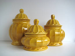 kitchen ceramic canister sets mustard canister set vintage canister set ceramic canisters set