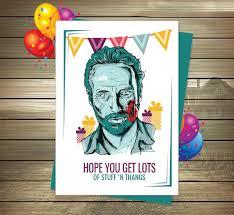 the walking dead birthday card rick grimes happy birthday