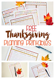 thanksgiving printables for planning your