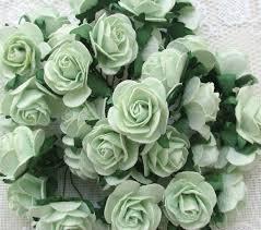 mint green flowers 40 pcs 25 30mm mint green mulberry paper flowers
