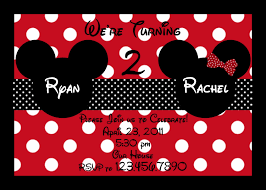 mickey and minnie twin birthday invitations u2014 liviroom decors