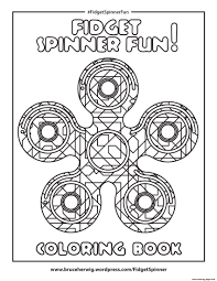 fidget spinner fun round mandala zen coloring pages printable