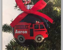 firefighter ornament etsy