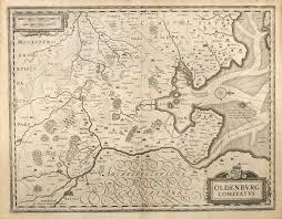 Bremen Germany Map by Oldenburg Comitatus Janssonius Germany Lower Saxony Bremen