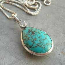 pendant necklace turquoise images Buy turquoise pendant necklace silver pendant cabochon pendant jpg