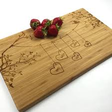personalized cutting board wedding cutting board personalized wedding gift blended family names