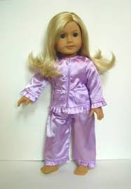 18 lavender doll satin pajamas the doll boutique