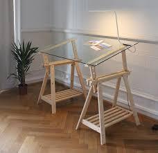 bureaux verre bureau plateau verre maison design wiblia com