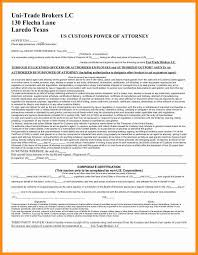 Sample Power Of Attorney Template by 8 Customs Power Of Attorney Form Action Plan Template
